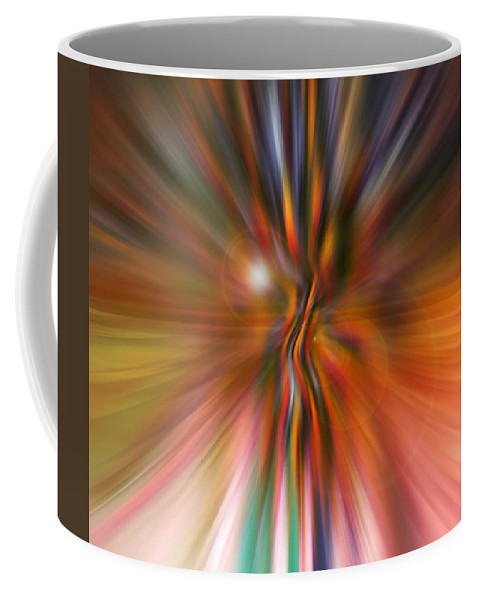 Abstract Art Coffee Mug featuring the digital art Shine On by Linda Sannuti