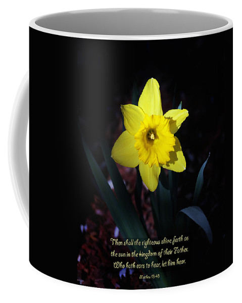 Daffodil Coffee Mug featuring the photograph Shining Daffodil by Debbie Nobile