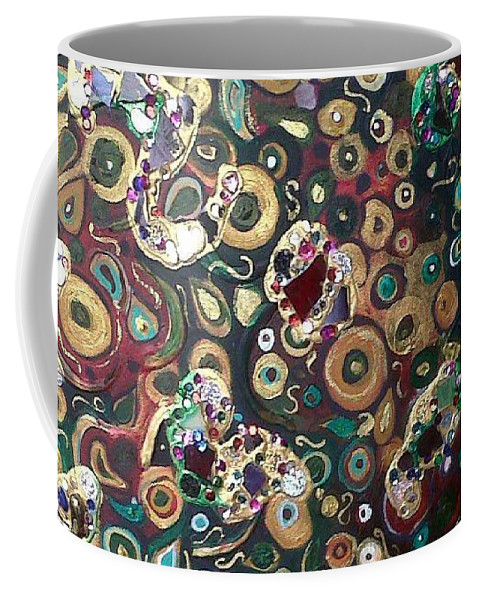 Coffee Mug featuring the mixed media Shining Moments by Jacqui Hawk