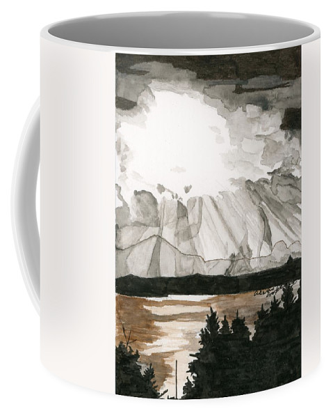 Impressionism Coffee Mug featuring the painting Shining Through The Storm by Alexis Grone