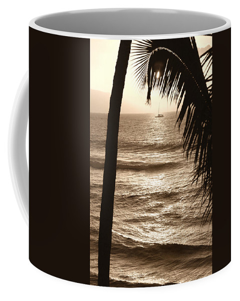 Hawaii Coffee Mug featuring the photograph Ship In Sunset by Marilyn Hunt