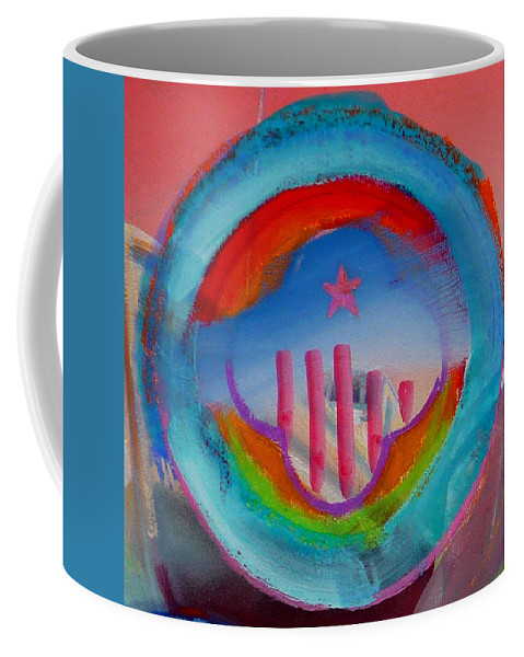 Logo Coffee Mug featuring the painting Ship Of State by Charles Stuart