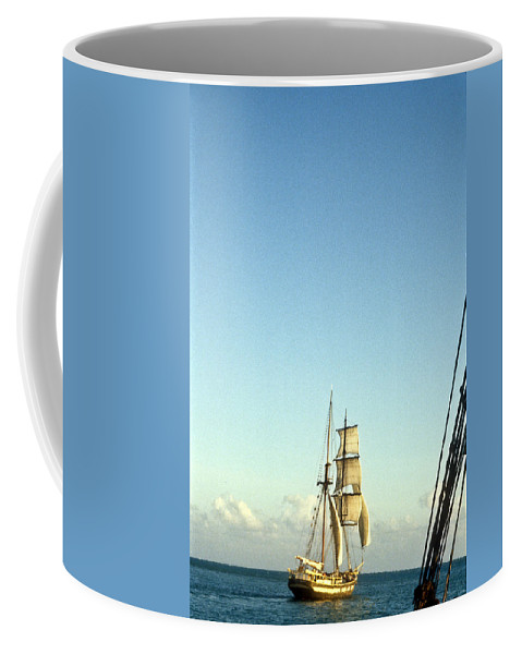 Ship Coffee Mug featuring the photograph Ship Off The Bow by Douglas Barnett
