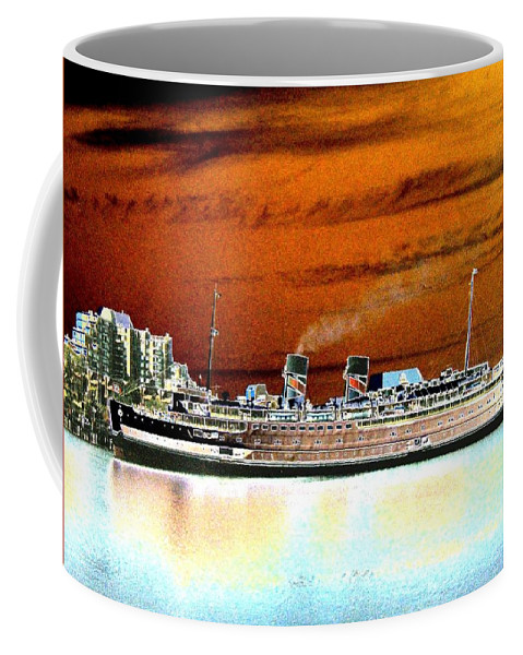 Ship Coffee Mug featuring the digital art Shipshape 2 by Will Borden