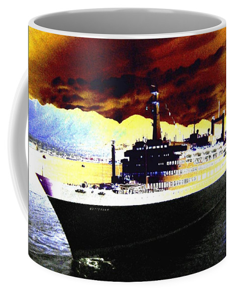 S S Rotterdam Coffee Mug featuring the digital art Shipshape 3 by Will Borden