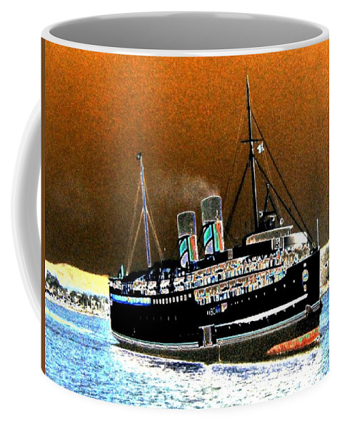 Princess Marguerite Coffee Mug featuring the digital art Shipshape 4 by Will Borden