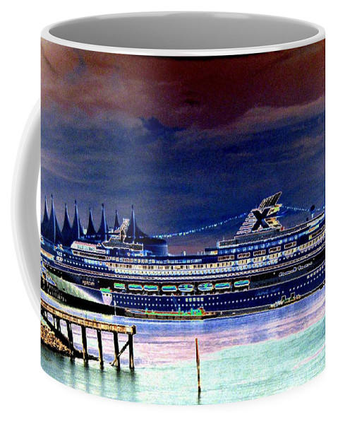 Mercury Coffee Mug featuring the digital art Shipshape 5 by Will Borden