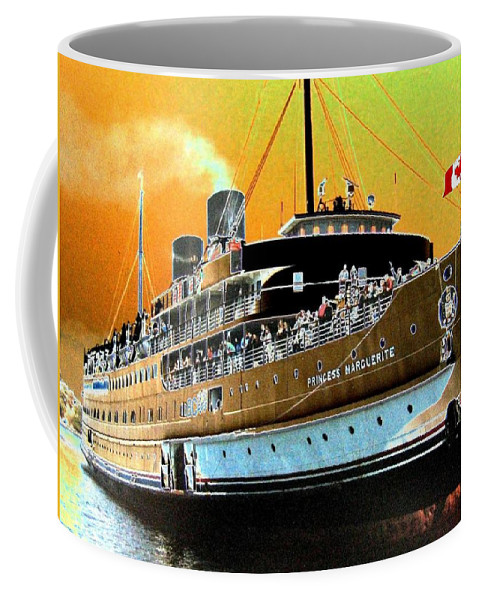 Princess Marguerite Coffee Mug featuring the digital art Shipshape 6 by Will Borden