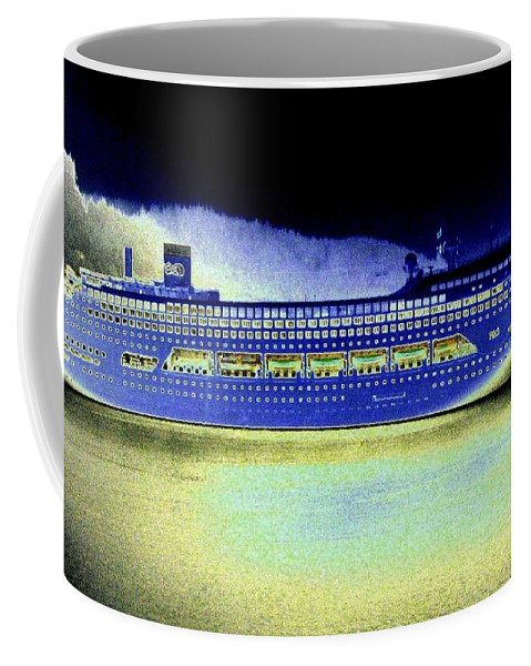 Ketchikan Coffee Mug featuring the digital art Shipshape 7 by Will Borden