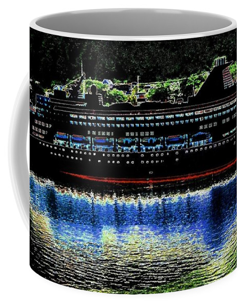 Juneau Coffee Mug featuring the digital art Shipshape 8 by Will Borden