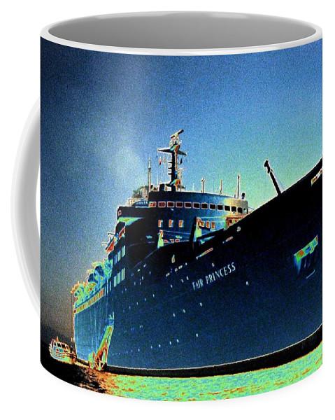 Puerto Vallarta Coffee Mug featuring the digital art Shipshape 9 by Will Borden