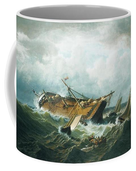 Shipwreck Off Nantucket (wreck Off Nantucket After A Storm) William Bradford Coffee Mug featuring the painting Shipwreck Off Nantucket by MotionAge Designs