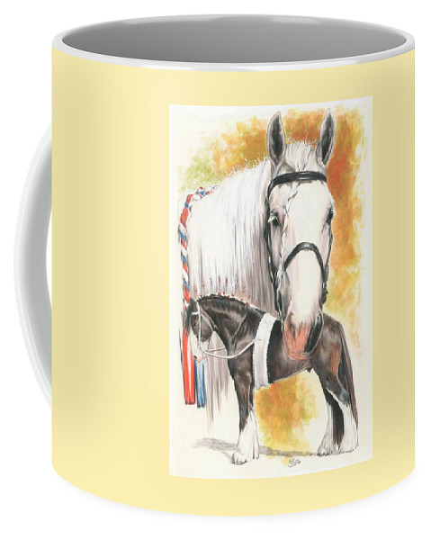 Shire Coffee Mug featuring the mixed media Shire by Barbara Keith