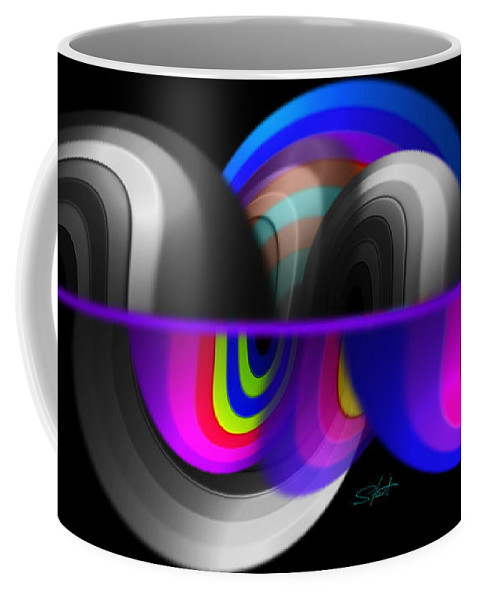 Wave Coffee Mug featuring the painting Shockwave by Charles Stuart