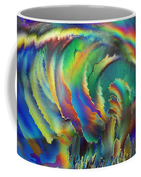Frost Coffee Mug featuring the photograph Shootin' The Curl by Carol Berget