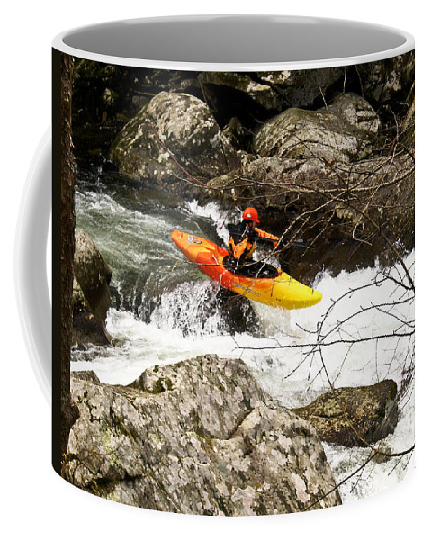 Rapids Coffee Mug featuring the photograph Shooting The Rapids by Douglas Barnett