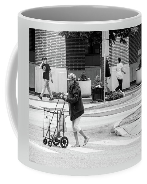 Cityscape Coffee Mug featuring the photograph Shopping Cart by Jennifer Wick