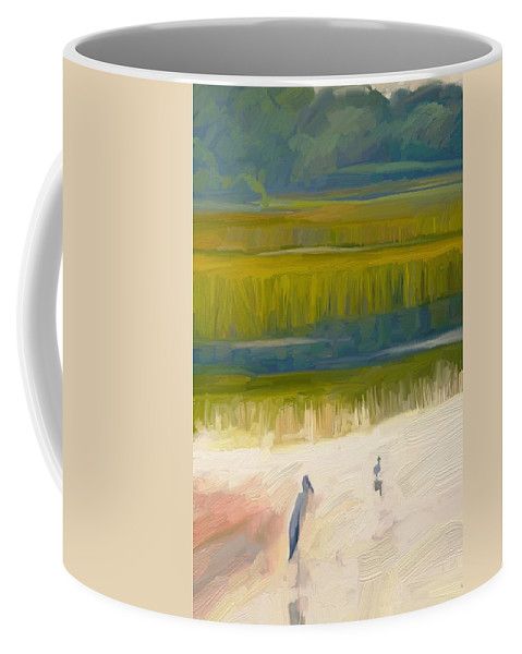 Florida Birds Shore Landscape Coffee Mug featuring the digital art Shore Birds by Scott Waters
