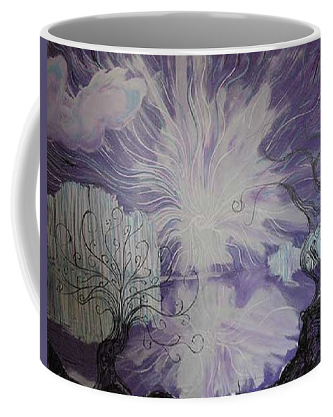 Squiggleism Coffee Mug featuring the painting Shore Dance by Stefan Duncan