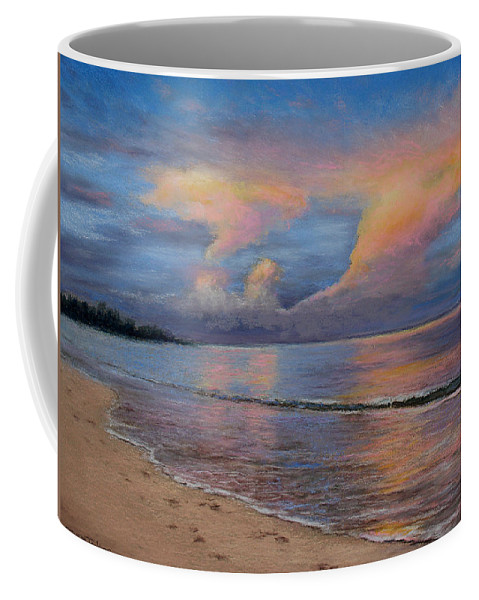 Landscape Coffee Mug featuring the pastel Shore Of Solitude by Susan Jenkins