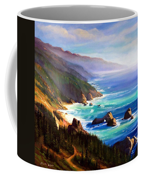 Shore Trail Coffee Mug featuring the painting Shore Trail by Frank Wilson