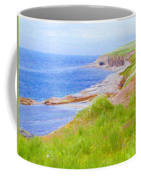 Canadian Coffee Mug featuring the painting Shores Of Newfoundland by Jeffrey Kolker