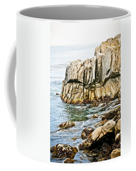 Pebble Beach Coffee Mug featuring the photograph Shores Of Pebble Beach by Marilyn Hunt