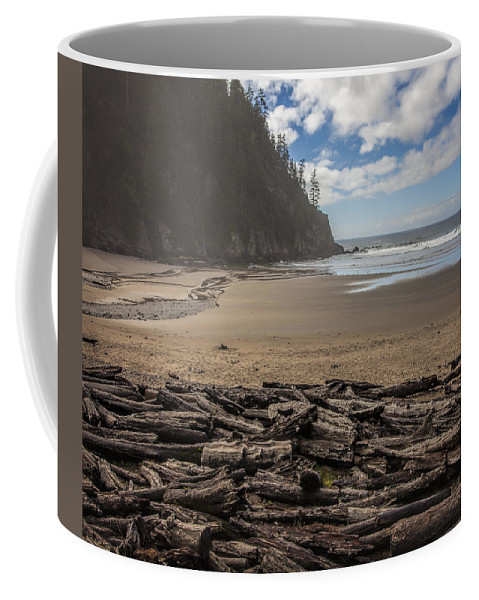 Oregon Coffee Mug featuring the photograph Short Sands Logs by Diana Powell