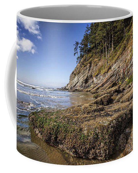 Oregon Coffee Mug featuring the photograph Short Sands Rocks by Diana Powell