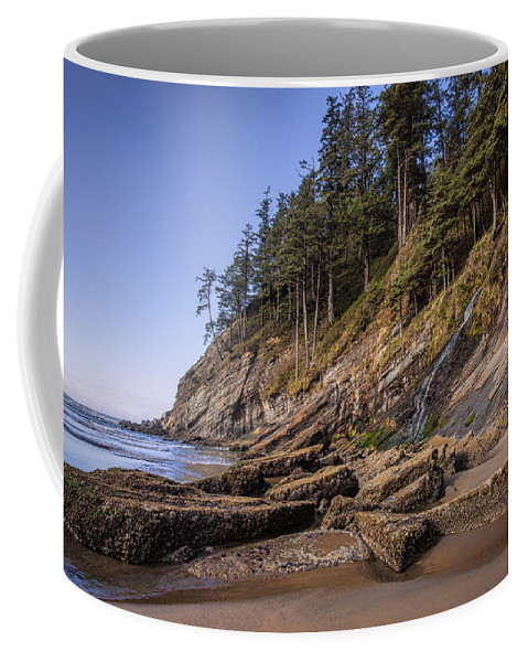 Oregon Coffee Mug featuring the photograph Short Sands Waterfall by Diana Powell