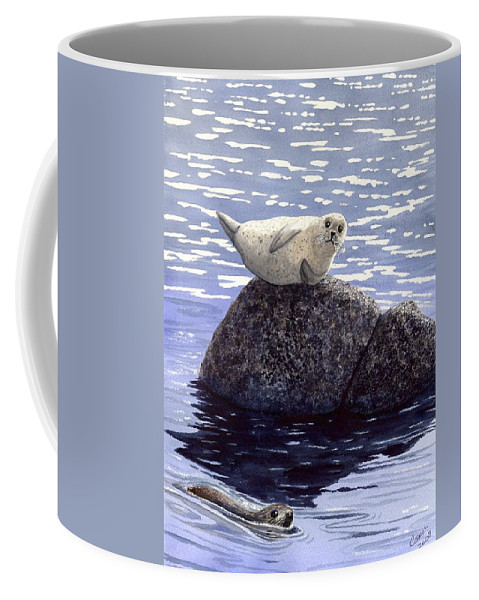 Seal Coffee Mug featuring the painting Show Off by Catherine G McElroy