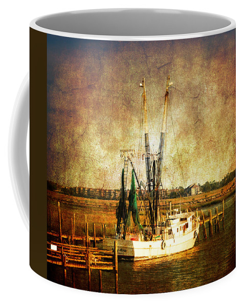 Shrimp Boat Coffee Mug featuring the photograph Shrimp Boat In Charleston by Susanne Van Hulst