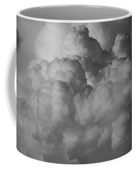 Black And White Coffee Mug featuring the photograph Shrimp Clouds by Rob Hans