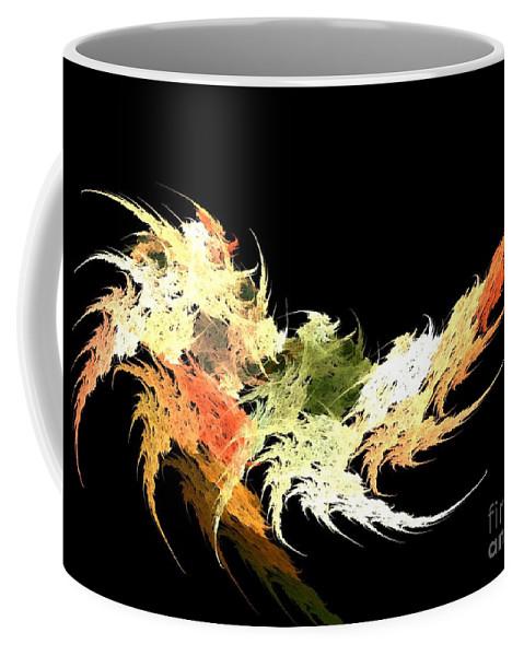 Apophysis Coffee Mug featuring the digital art Shrimp by Kim Sy Ok