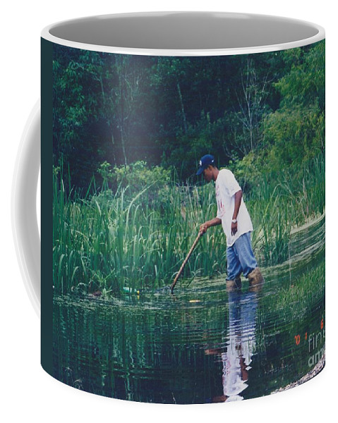 Landscape Coffee Mug featuring the photograph Shrimping In The Bayou by Michelle Powell