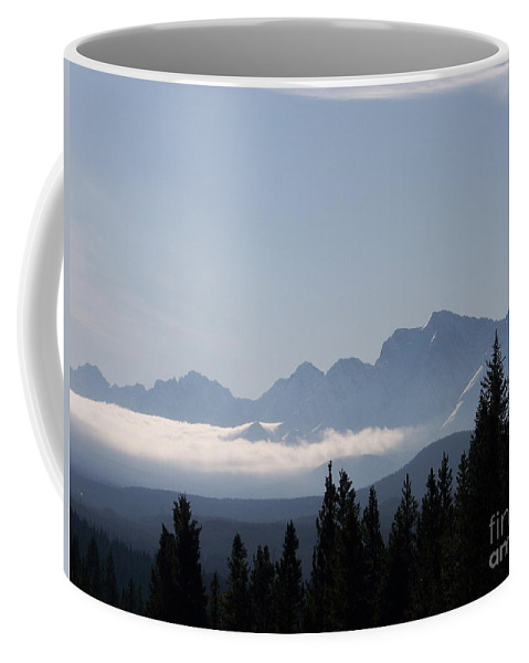 Scenic Coffee Mug featuring the photograph Shrouded Valley by Greg Hammond