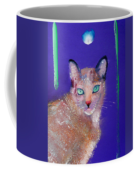 Cat Coffee Mug featuring the painting Siamese Cat by Charles Stuart