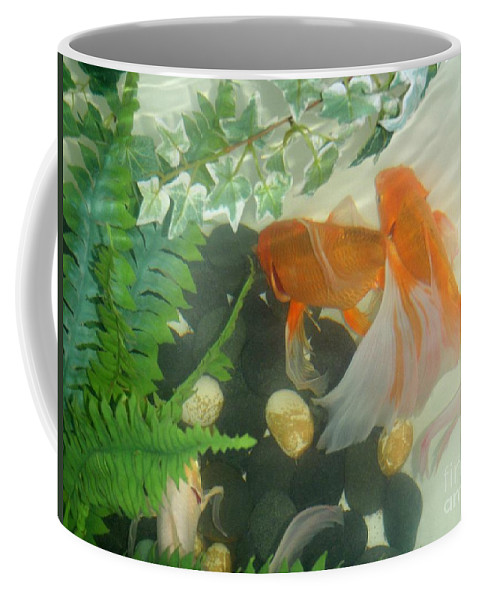 Orange Coffee Mug featuring the photograph Siamese Fighting Fish 2 by Mary Deal