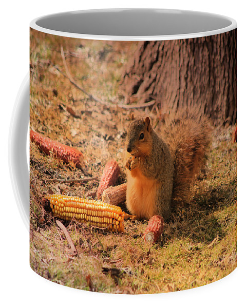 Photography Coffee Mug featuring the photograph Sibyl Loves Corn by Theresa Campbell