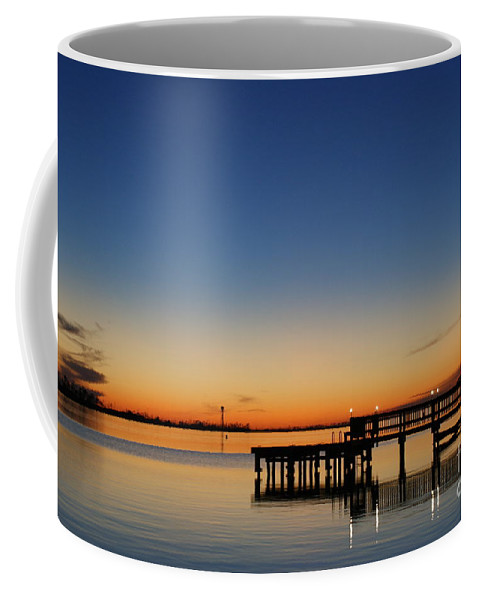Sound Coffee Mug featuring the photograph Calmer Waters by Jennifer Diaz