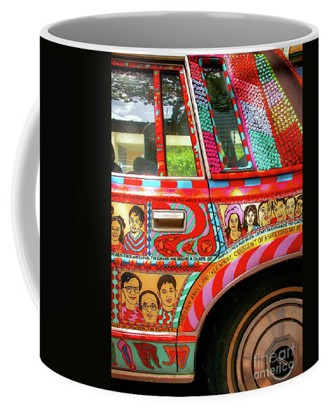 Car Coffee Mug featuring the photograph Side And Tire Of The Car-nola by Kathleen K Parker