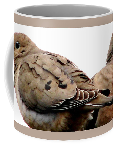 Mourning Doves Coffee Mug featuring the photograph Side By Side by Angela Davies