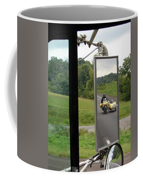 Truck Coffee Mug featuring the photograph Side Car Framed by J R  Seymour