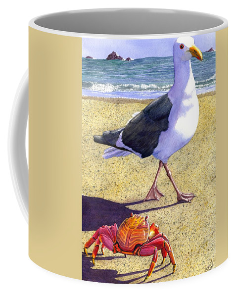 Crab Coffee Mug featuring the painting Side Stepping by Catherine G McElroy