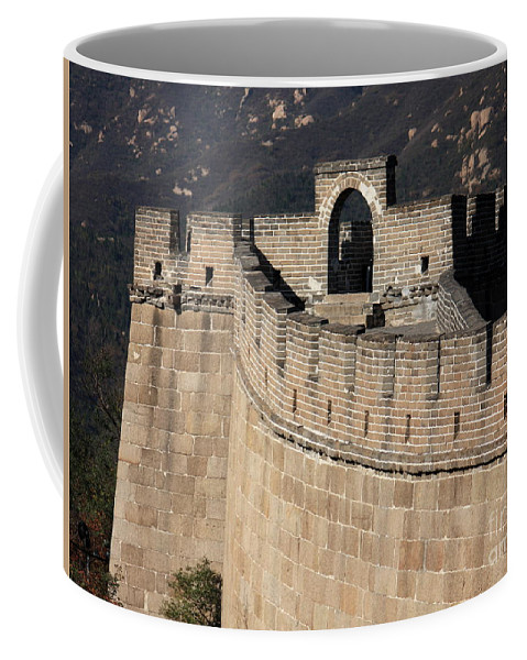 The Great Wall Of China Coffee Mug featuring the photograph Side View Of The Great Wall by Carol Groenen