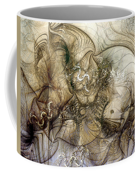 Abstract Coffee Mug featuring the digital art Sidewinder by Casey Kotas