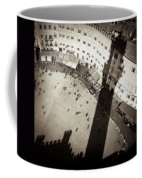 Siena Coffee Mug featuring the photograph Siena From Above by Dave Bowman