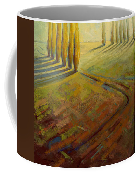 Landscape Coffee Mug featuring the painting Sienna by Konnie Kim