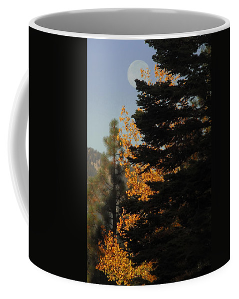 Full Moon Coffee Mug featuring the photograph Sierra Autumn Moonset by Diane Zucker