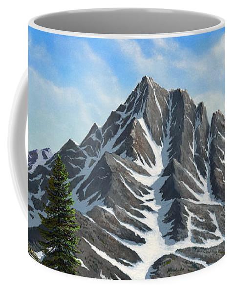 Mountains Coffee Mug featuring the painting Sierra Peaks by Frank Wilson
